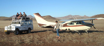 Alex Bellew in Namibia