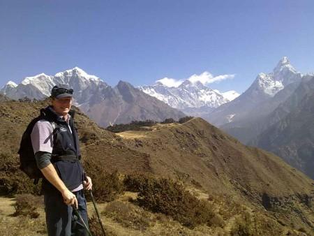 Rowan Nepal Everest Fam 2012, rowan with everest view