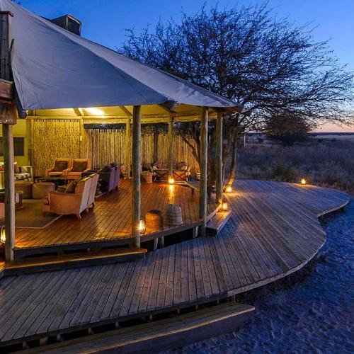 Kalahari Plains Camp, Central Kalahari Game Reserve
