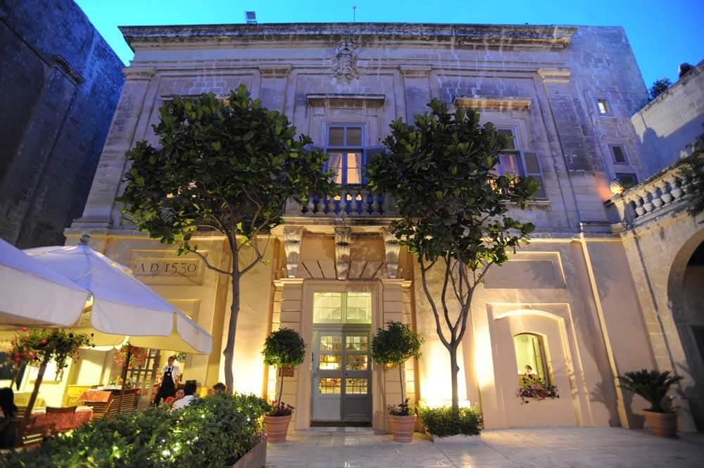The Xara Palace Mdina Malta The Ultimate Travel Company