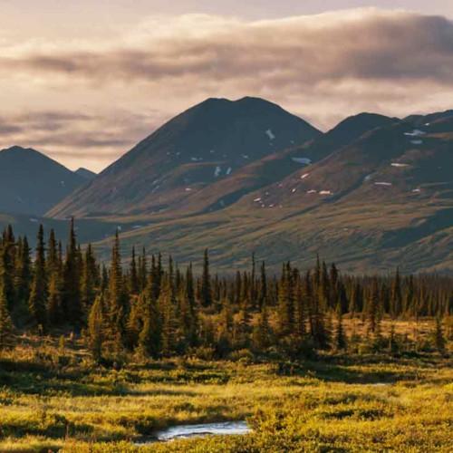 Alaska's Mountain Peaks and Glaciers