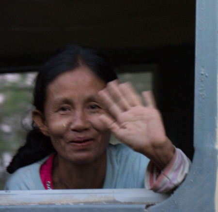 Yangon Express, blog. A friendly wave (1 of 1)
